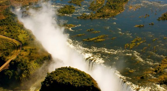 Aerial view Victoria Falls (by Imvelo Safaris)
